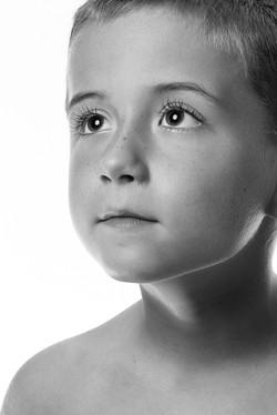 Black and white fine portrait