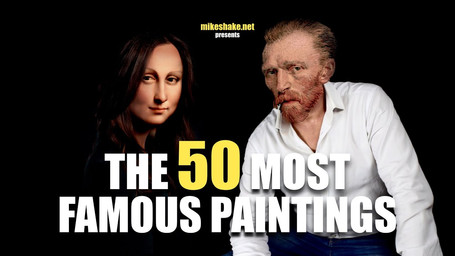 The 50 most famous paintings by Mikeshake Creative Studio