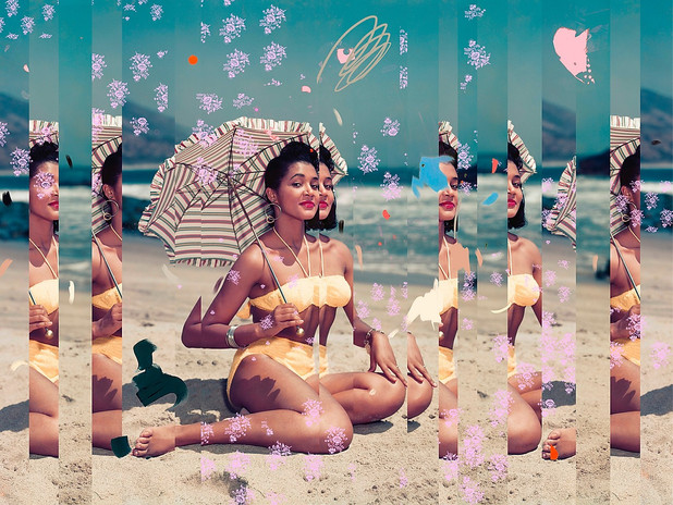 LIZZIE GILL: COLLAGES MODERNES ET AMERIQUE RETRO POST-FEMINISTE
