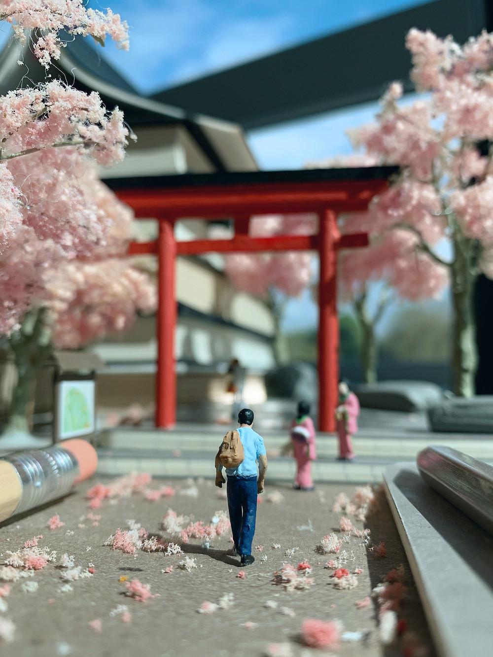 Derrick Lin, Dioramas miniatures de la vie quotidienne