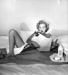 Marilyn Monroe Having Breakfast in Bed, 1953