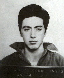 Al Pacino's Mugshot After Being Arrested on Suspicion of Attempted Robbery, 1961