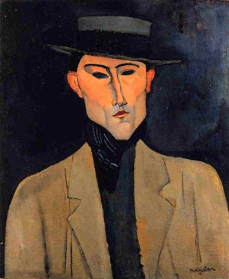 Amedeo Modigliani - Portrait of a Man with Hat (1915)