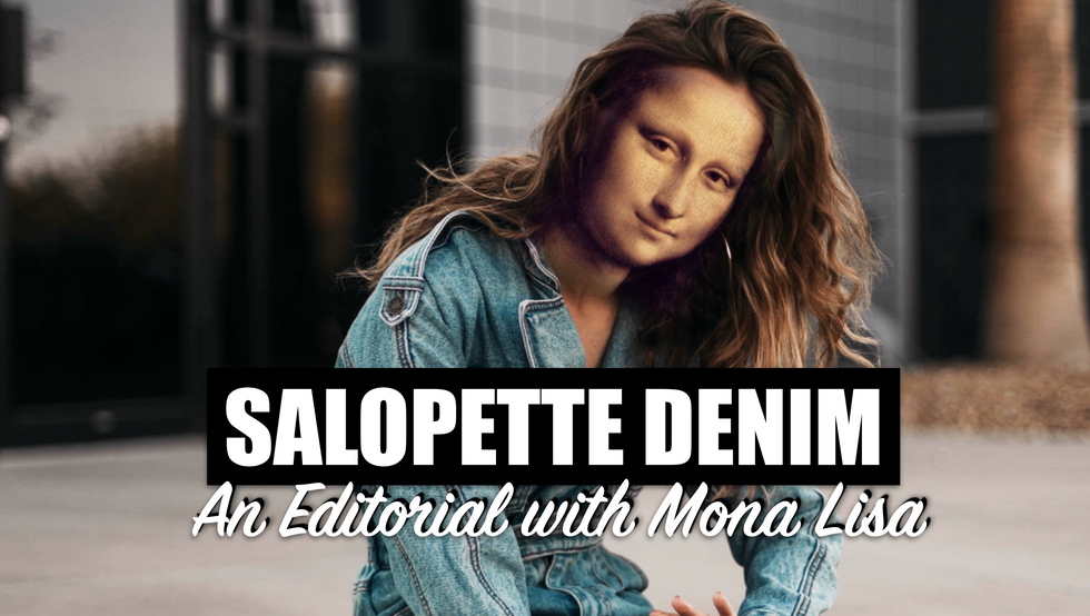 MIKESHAKE CREATIVE STUDIO: SALOPETTE DENIM WITH MONA LISA