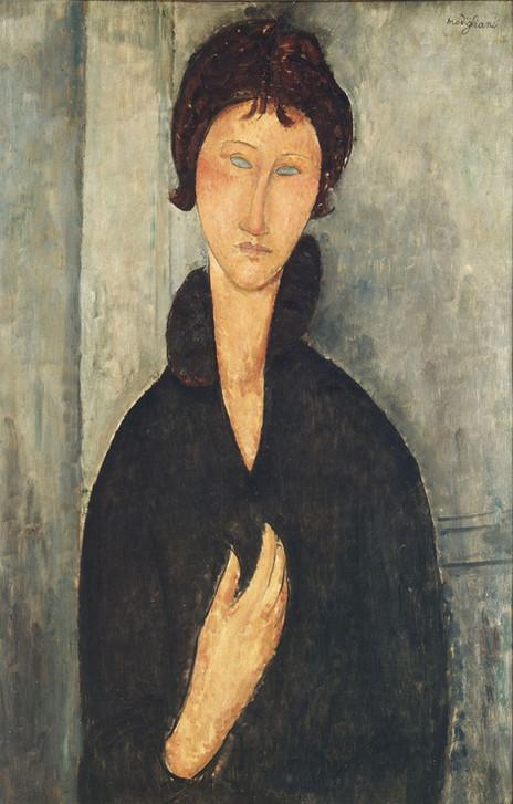 Amedeo Modigliani - Woman with Blue Eyes (1918)