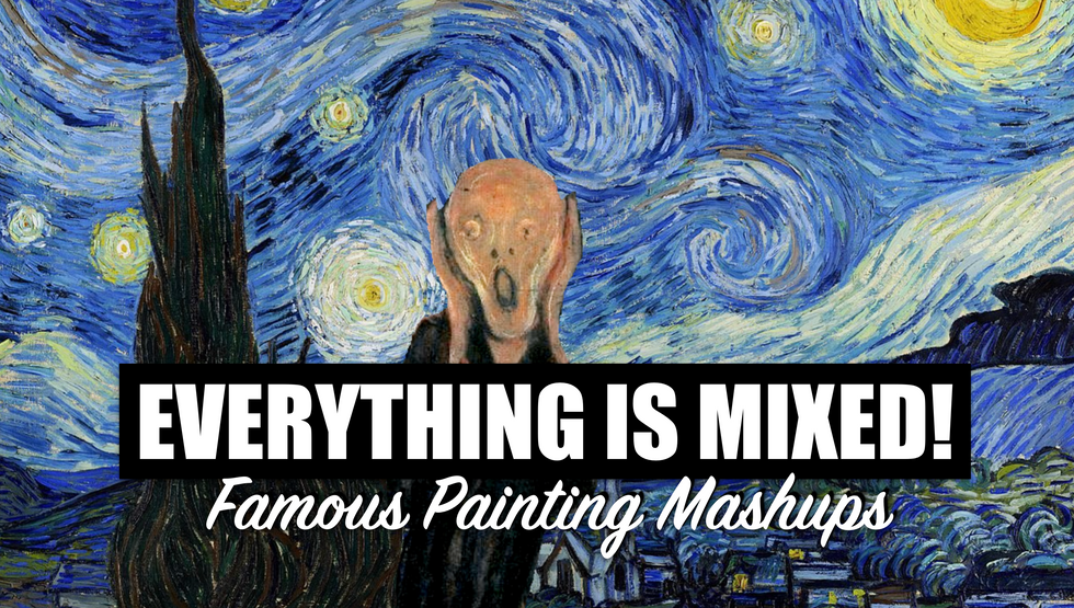 MIKESHAKE CREATIVE STUDIO: EVERYTHING IS MIXED! FAMOUS PAINTING MASHUPS