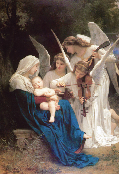 William-Adolphe Bouguereau - Song of the Angels (1881)