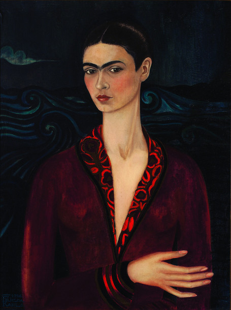 Frida Kahlo - Self Portrait in a Velvet Dress (1926)