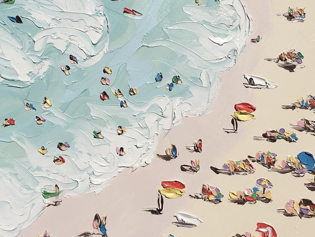 SALLY WEST: TEXTURE ET PLEIN AIR, PLAGES SINGULIERES