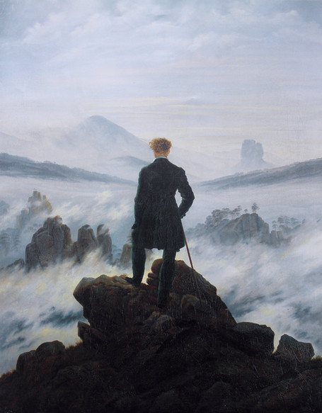 Caspar David Friedrich - Wanderer Above the Sea of Fog (1818)