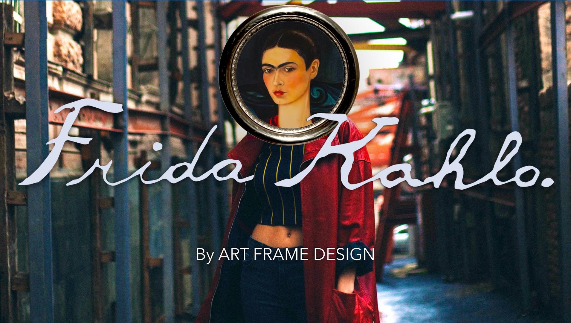Frida-Kahlo-Art-Frame-Design-Mikeshake