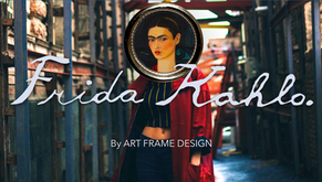 ART FRAME DESIGN: FRIDA KAHLO BY MIKESHAKE CREATIVE STUDIO