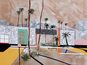 CHARLOTTE KEATES: ARCHITECTURE 1960S, PEINTURES CONTEMPORAINES