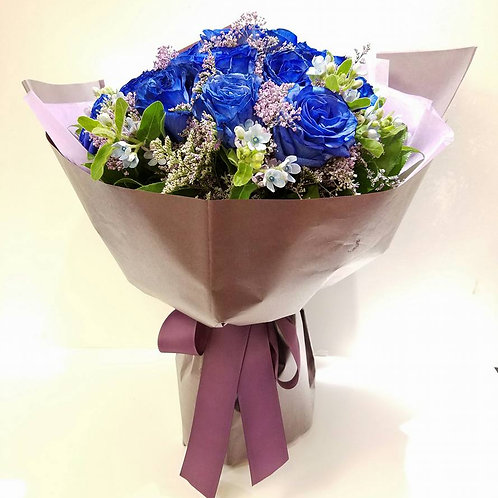 Flower Bouquet for engagement - Blue Rose