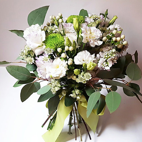 Wedding Flower Bouquet - Eustoma, Hypericum Berry