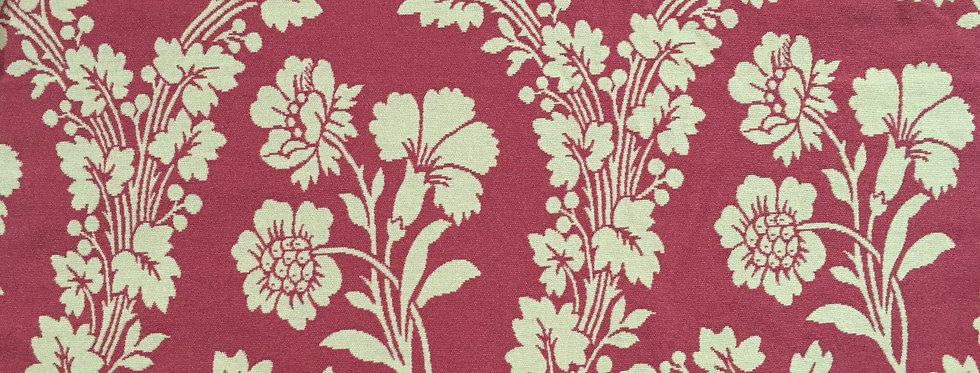 Pink and White Botanical - Floral - Reversible