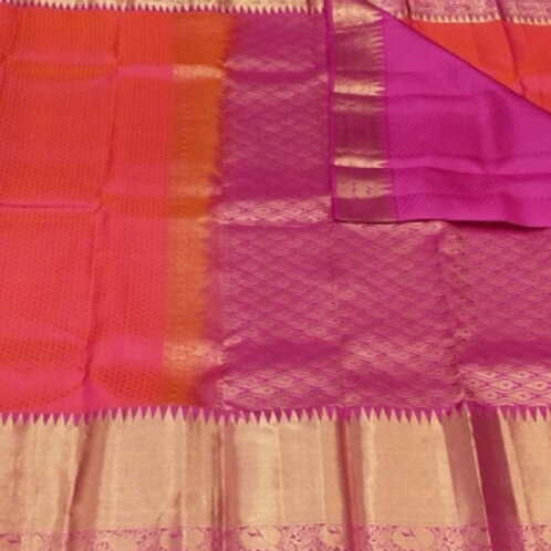 copy of Tuquoise Blue Kanchipuram Silk Saree