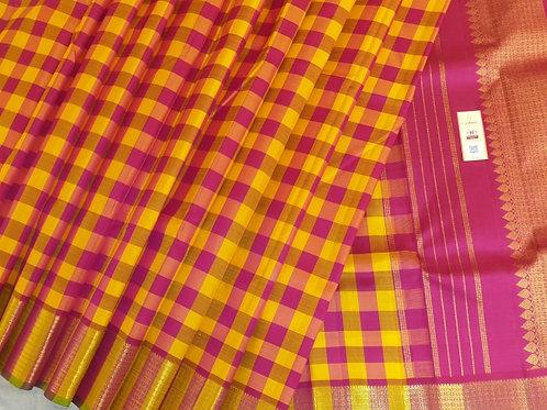 Tuquoise Blue Kanchipuram Silk Saree
