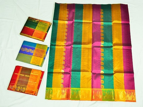 copy of Tuquoise Blue Kanchipuram Silk Saree