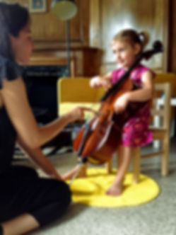 Young girl holds her cello at Upper Beaches Music School