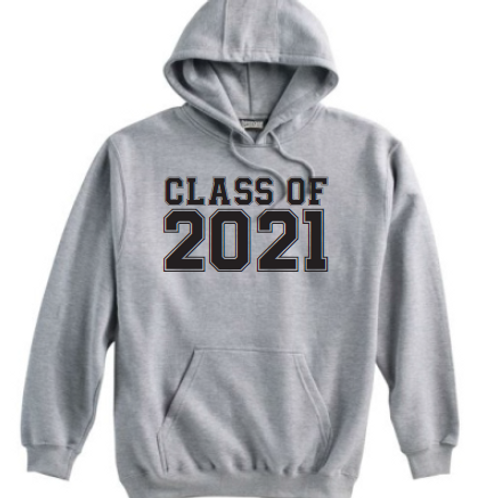 8th Class of 21 Grey Hoodie