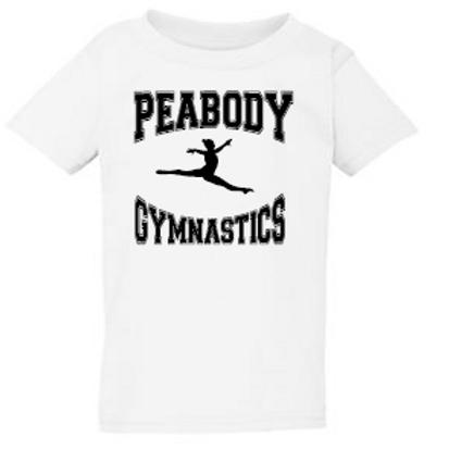 Peabody Gymnastics White Toddler T