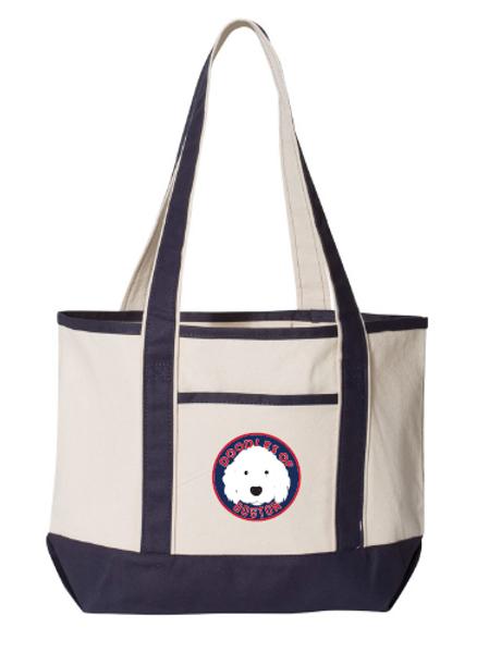 Doodles Navy Bag Embroidered logo