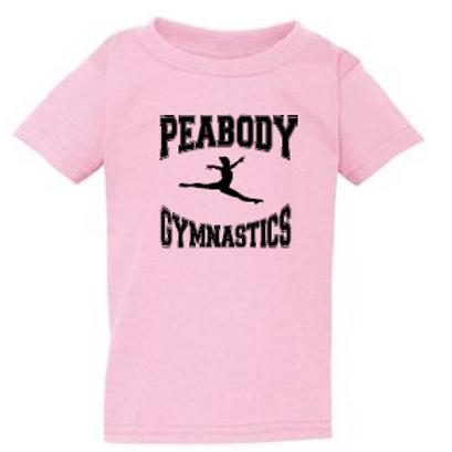 Peabody Gymnastics Pink Toddler T
