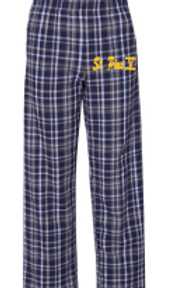 St. Pius Navy/White Flannel Pant Opt 1