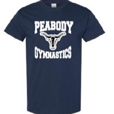 Peabody Gymnastics Navy Adult T
