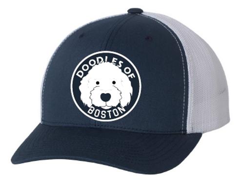 Doodles Navy Hat Embroidered logo