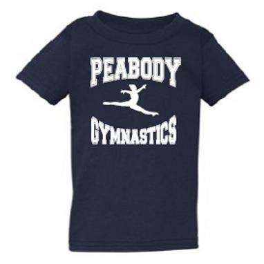 Peabody Gymnastics Navy Toddler T