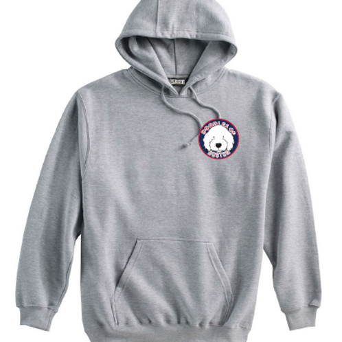 Doodles Left Chest Grey Super 10 Hoodie Embroidered logo