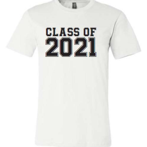8th Class of 21 White Shirt