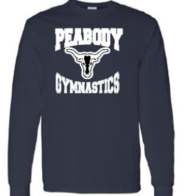 Peabody Gymnastics Navy LS T