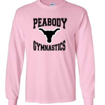 Peabody Gymnastics Pink LS T