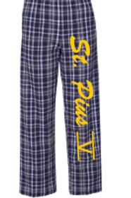 St. Pius Navy/White Flannel Pant Opt 2