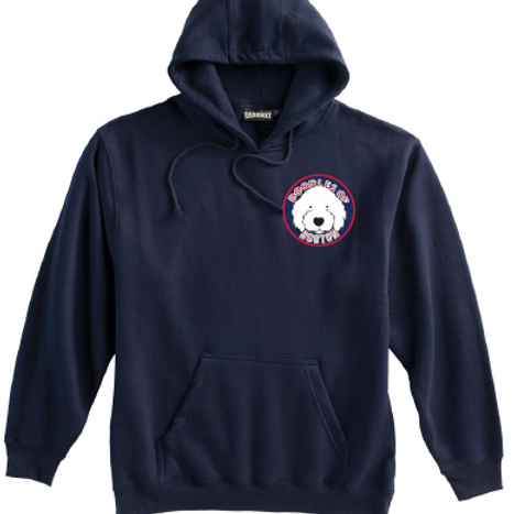 Doodles Left Chest Navy Super 10 Hoodie Embroidered logo