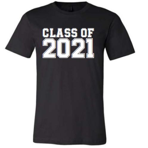 8th Class of 21 Black Shirt