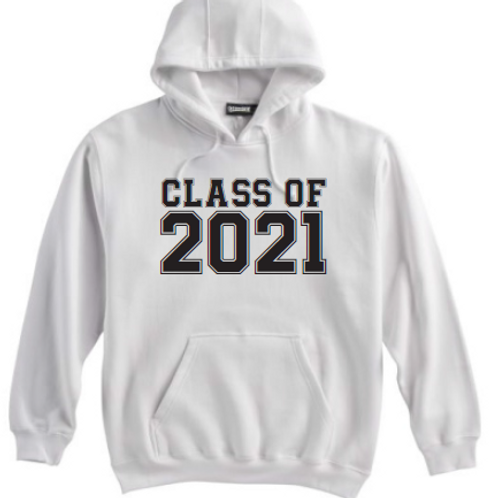 8th Class of 21 White Hoodie