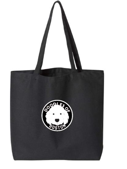 Doodles Black Bag Embroidered logo