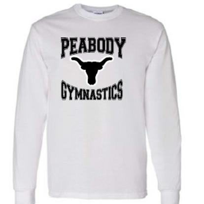 Peabody Gymnastics White LS T