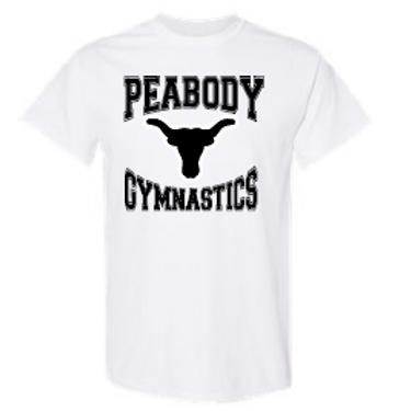 Peabody Gymnastics White Adult T