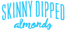 Skinny dipped almonds logo