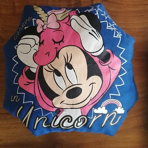 """Coussin """"doudou"""" Minnie bleu"""