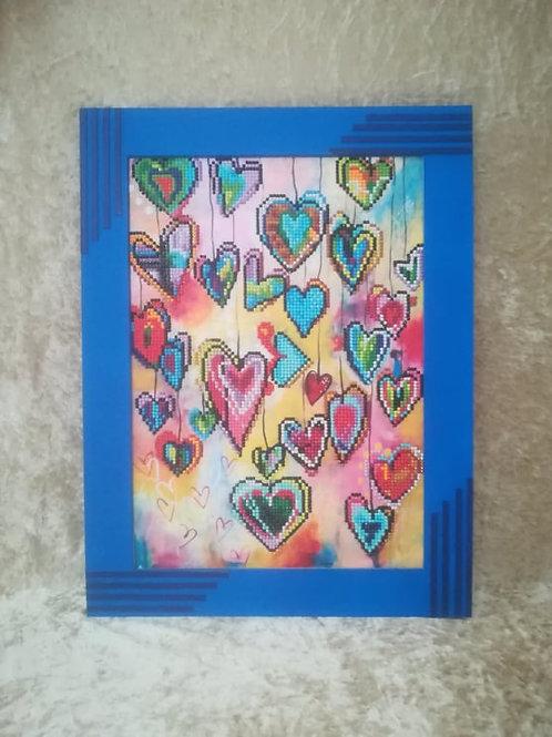 DIAMOND painting Partiel Coeur
