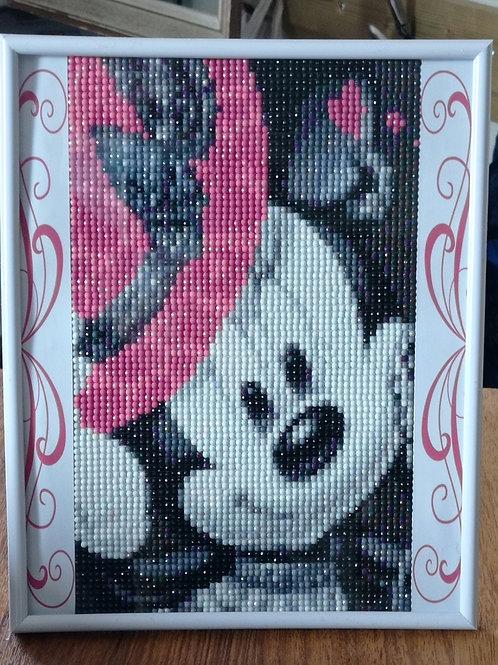 Minnie diamond painting 20 x 30 cm
