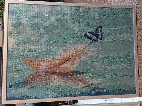Plume en diamant painting 50 x 70 cm