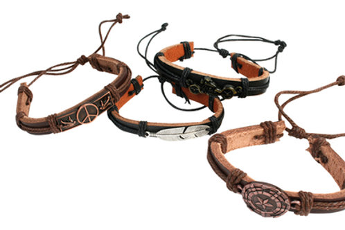 Bracelets summer boys cuir