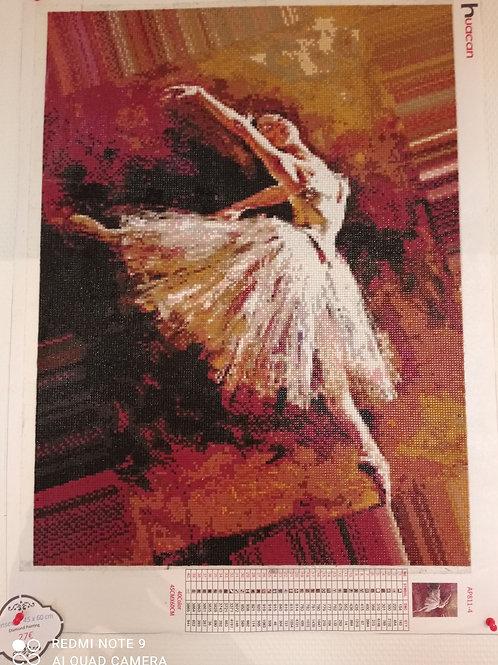 Danseuse  en diamant painting 45 x 60 cm